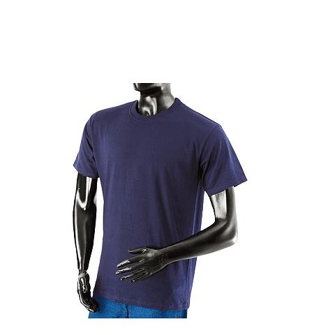 Camiseta Cuello Redondo Azul Oscuro