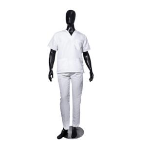 Conjunto Antifluido Cuello V Blanco Unisex