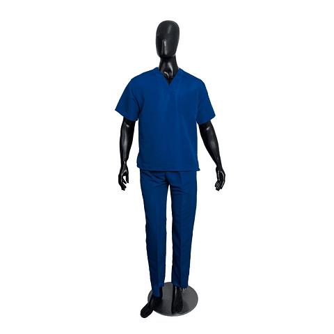 Conjunto Antifluido Cuello V Azul Rey Unisex