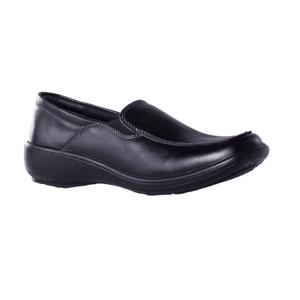 Zapato Mocasin Celeste Negro